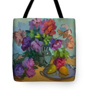 Pears And Roses Tote Bag