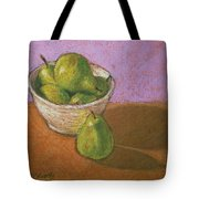 Pears In Bowl Tote Bag