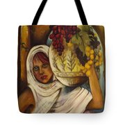 Peasant Girl Tote Bag