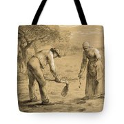 Peasants Planting Potatoes  Tote Bag