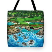 Pebble Beach 15th Hole-north Tote Bag