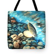 Pebble Beach And Shells Tote Bag