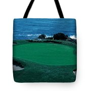 Pebble Beach Golf Course 8th Green Tote Bag