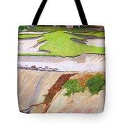 Pebble Beach Sand Tote Bag