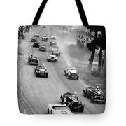 Pebble Beach California Sports Car Races Auto Road Race April 11 1954 Tote Bag