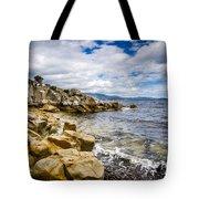 Pebbled Beach Under Dramatic Skies Number Two Tote Bag