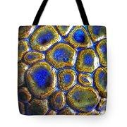 Pebbles Marbled Blue Tote Bag