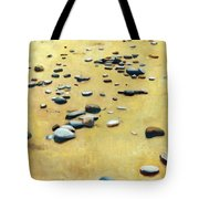 Pebbles On The Beach - Oil Tote Bag