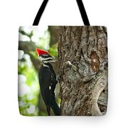 Pecking Woodpecker Tote Bag