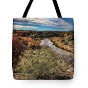 Pedernales River In Autumn Tote Bag