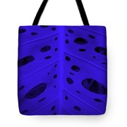 Peek-a-boo Leaf In Purple Tote Bag