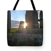 Peek-a-boo Sun At Stonehenge Tote Bag