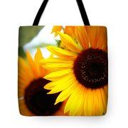 Peekaboo Sunflowers Tote Bag