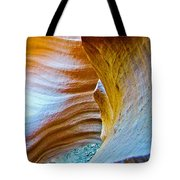 Peeking At Treasure In Lower Antelope Canyon In Lake Powell Navajo Tribal Park-arizona   Tote Bag