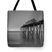 Peering Through The Clouds Bw Tote Bag