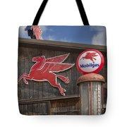 Pegasus And Mobilgas Tote Bag