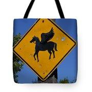 Pegasus Road Sign Tote Bag