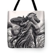 Pegasus Tamed By The Muses Erato And Calliope Tote Bag