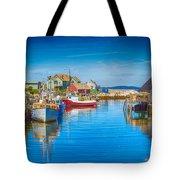 Peggy's Cove Boats Nova Scotia Tote Bag