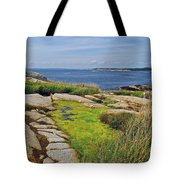 Peggy's Cove From Lighthouse-ns Tote Bag