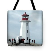 Peggy's Cove Light House Tote Bag
