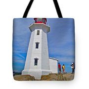 Peggy's Cove Lighthouse Closeup-ns Tote Bag