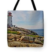Peggy's Cove Lighthouse On The Rocks-ns Tote Bag