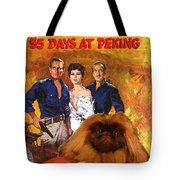 Pekingese Art - 55 Days In Peking Movie Poster Tote Bag