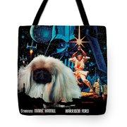 Pekingese Art - Star Wars Movie Poster Tote Bag