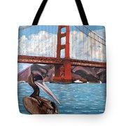 Pelican  And Bridge Tote Bag