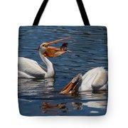Pelican Fishing Buddies Tote Bag by Kathleen Bishop