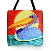 Pelican In The Sun  Tote Bag