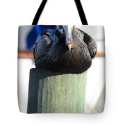 Pelican On Piling Tote Bag