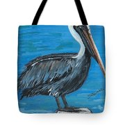 Pelican On Post Tote Bag