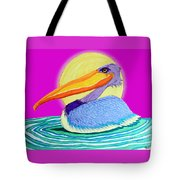 Pelican On The Water 2 Tote Bag