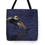 Pelican Over Water Tote Bag