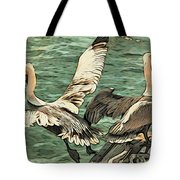 Pelican Take Off Two Tote Bag