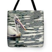 Pelican With Abstract Water Reflections I Tote Bag