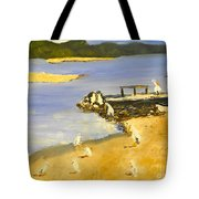 Pelicans On The Shore Tote Bag