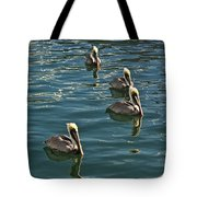 Pelicans On The Water In Key West Tote Bag
