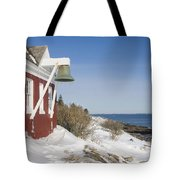 Pemaquid Point Bell House On The Maine Coast Tote Bag