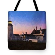 Pemaquid Point Light At Dawn Tote Bag