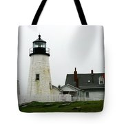 Pemaquid Point Light In The Rain - Maine Tote Bag