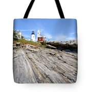 Pemaquid Point Lighthouse In Maine Tote Bag
