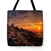 Pemaquid Sunrise  Tote Bag by Jerry Fornarotto