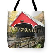 Pemigewasset River Covered Bridge In Fall Tote Bag