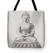 Pen And Ink Buddha Tote Bag