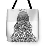 Pen And Ink Staircase Tote Bag