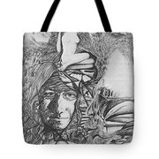 Pen And Ink World 3 Tote Bag