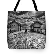 Penarth Pier 2 Monochrome Tote Bag